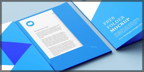 folder mockup free 3 perspectives