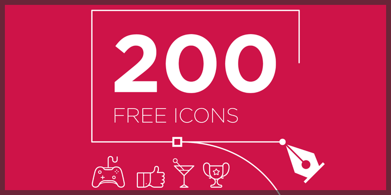 free icons pack vector 200