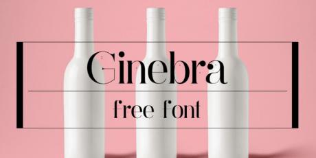 ginebra vintage style font