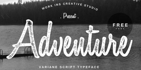 handwritten script typeface variane