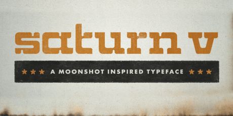 saturn v font