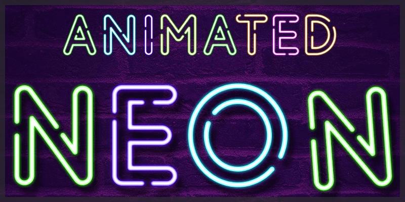 free stencil neon font