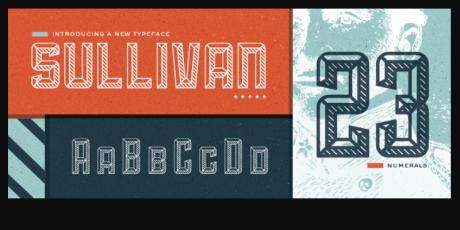 three variations bold display font