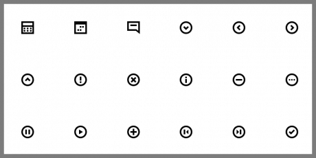 ui icons free css svg font