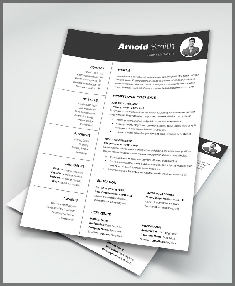 Free Word Resume Template & Cover Letter (docx)
