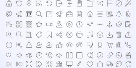 170 web line icons sketch