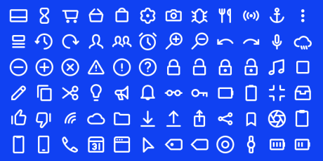 200 outline icon set