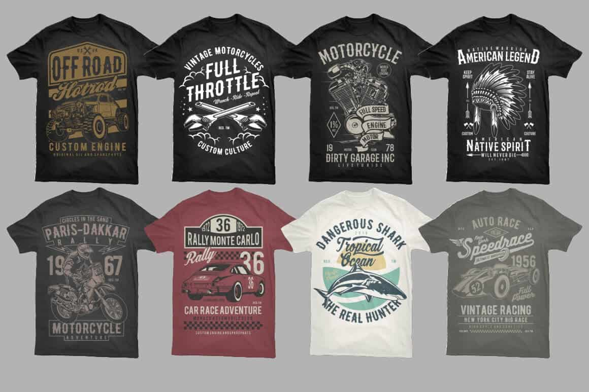 400 Vector T Shirt Designs Bundle Bypeople