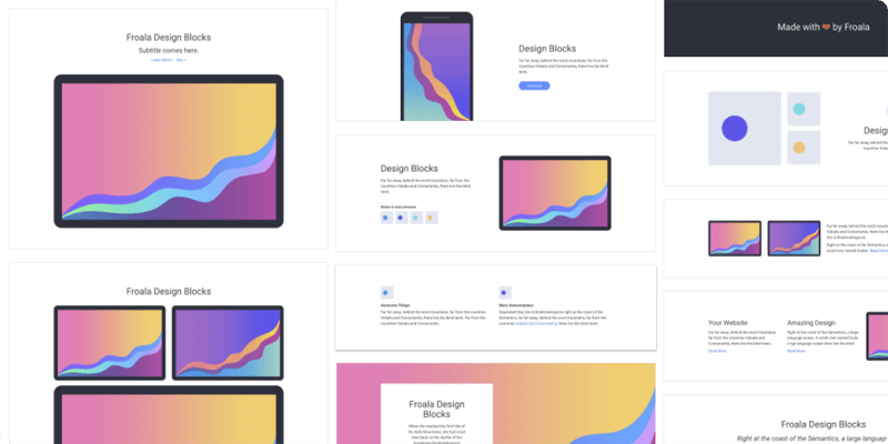 builder web design blocks