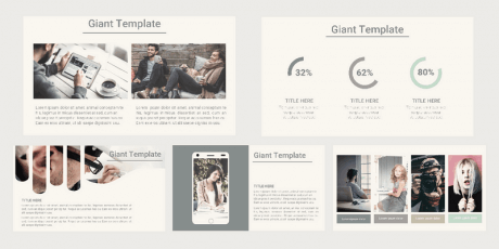 business powerpoint template vita