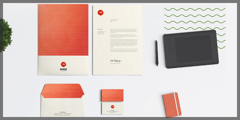 customizable logo pattern stationery