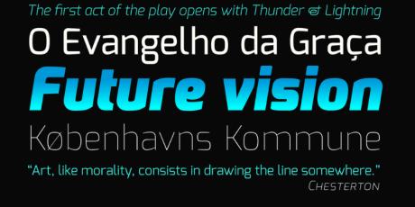 futuristic looking web font