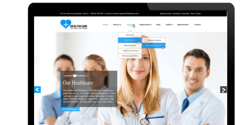 healthcare wordpress theme