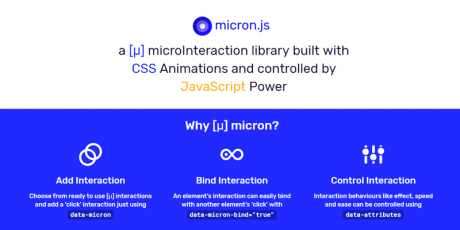javascript library creating css animations