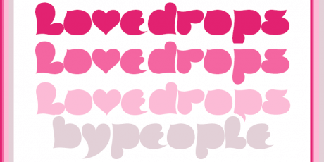 lovedrops holiday typeface
