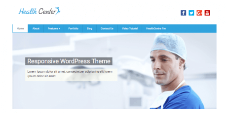 medical wordpress theme health center lite