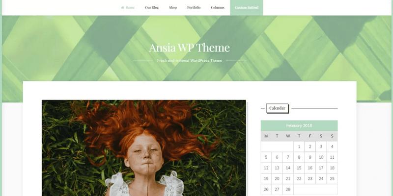 minimal blogging wordpress theme sidebar