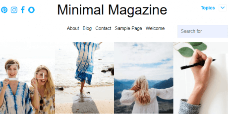 minimal magazine wordpress theme