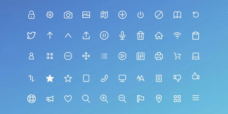 outline icons adobe xd