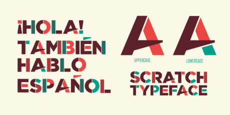 sans serif display typeface scratch