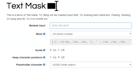 text mask input mask library