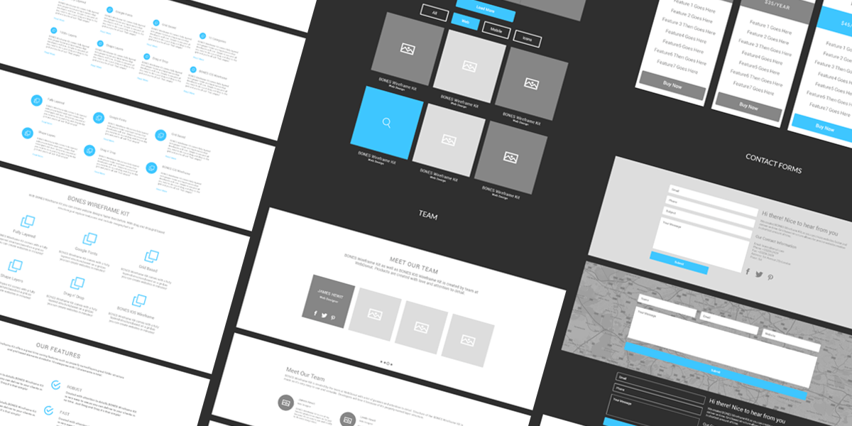 powerpoint wireframe template for ui design.html