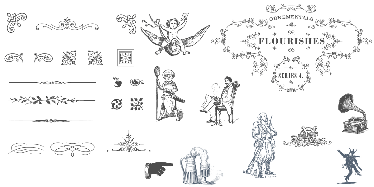 1500+ Essential Vintage Vector Elements  Carefully Hand Made  Easily