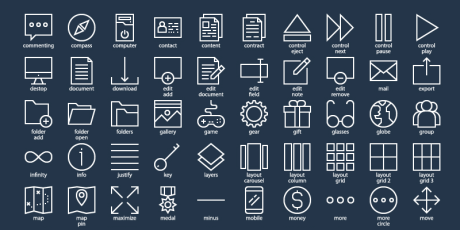 260 mixed essential web icons