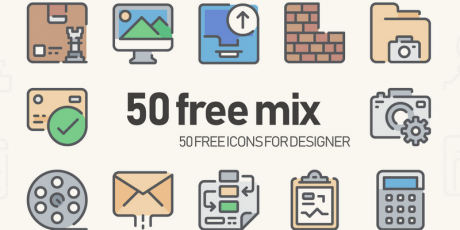 50 free mix icons for designers
