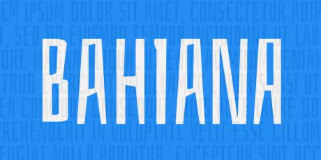 bahiana rustic typeface