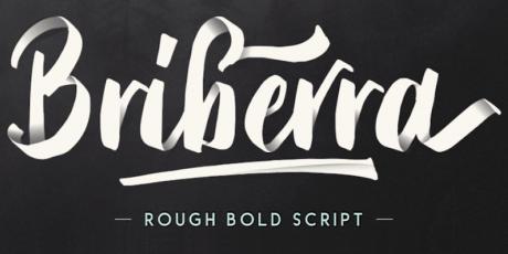 bribera rough bold script font