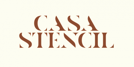 bypeople exclusive casa stencil professional font 1