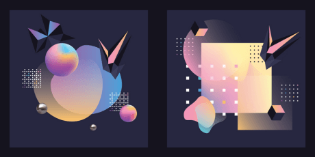 exclusive vector gradient shapes patterns polarvectors