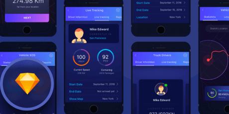 ios logistics app concept