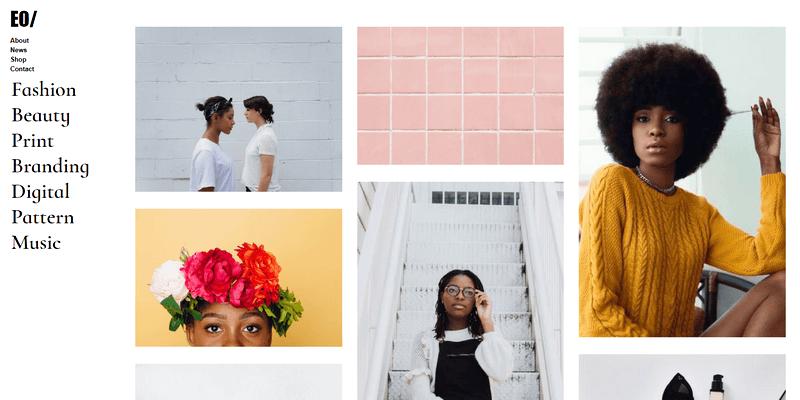 minimal portfolio website design