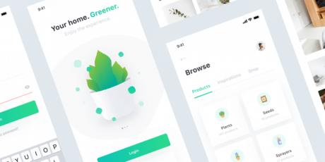 plant ui kit design sketch