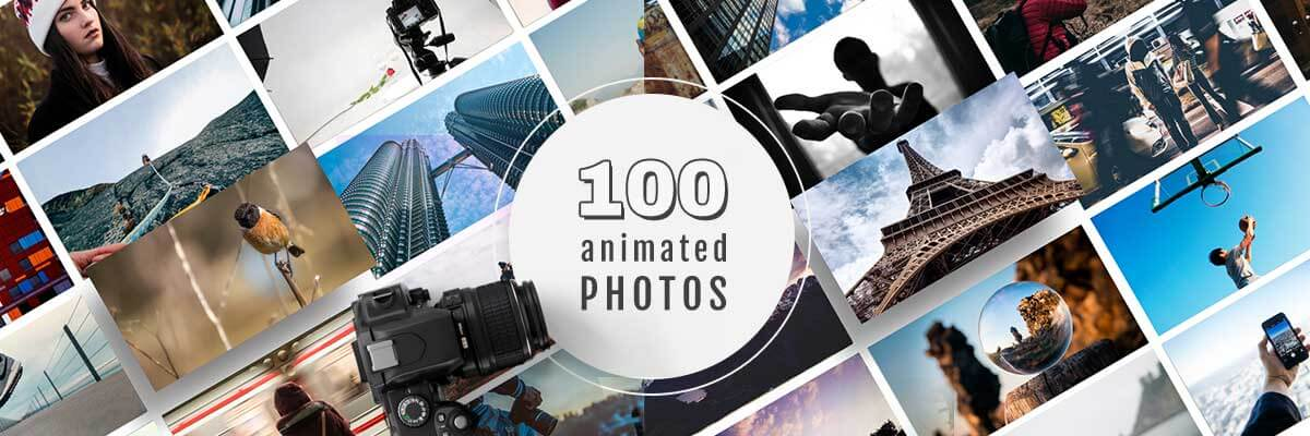 100 animated photos videos bundle bypeople