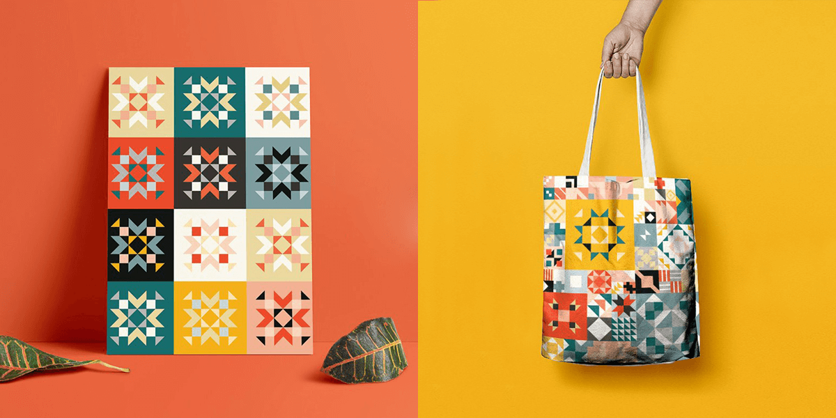 240+ Geometric Vector Patterns & Shapes Bundle | Bypeople