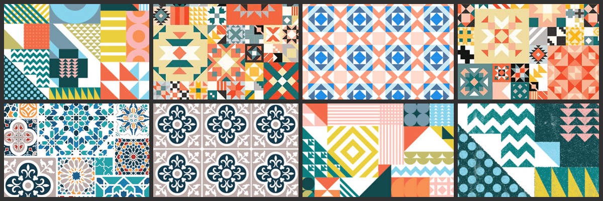 240 geometric patterns shapes bundle featured img