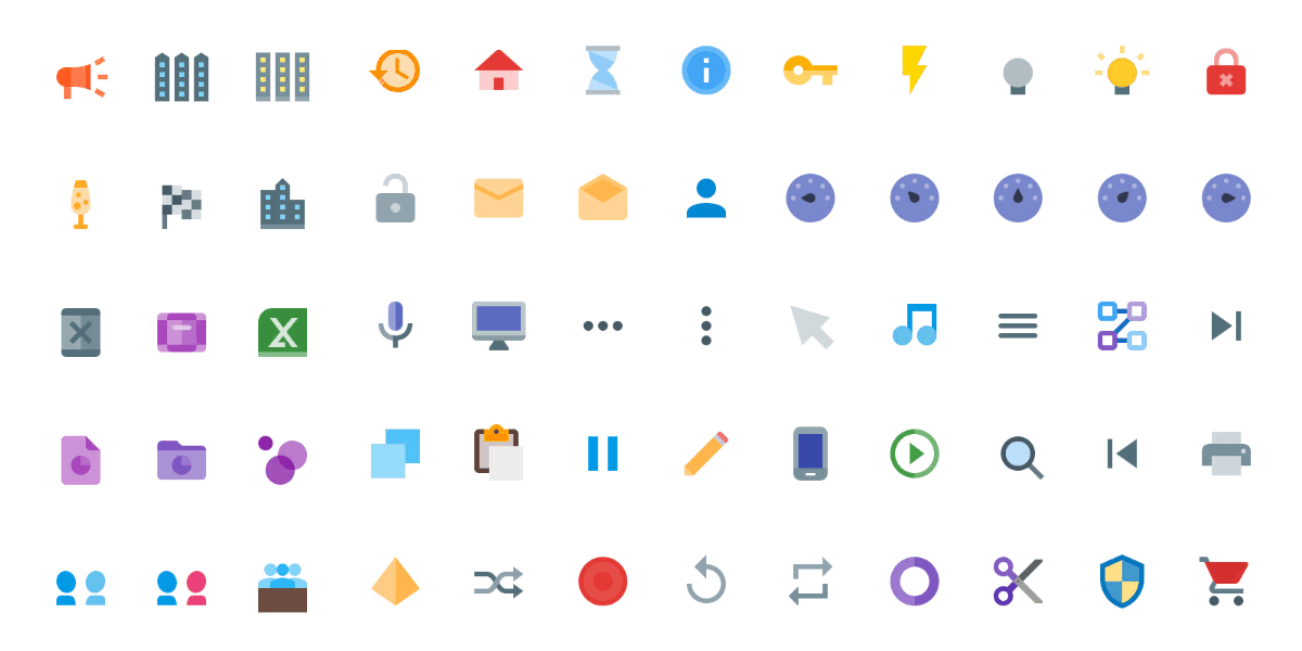 6300+ Vector Material Design Icons, Colored & Solid-Fill