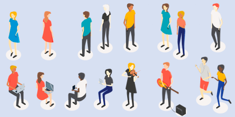 bypeople exclusive free isometric people drawn vector