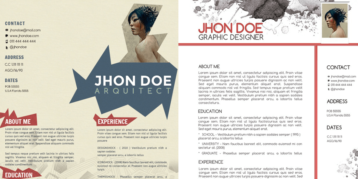 47 creative cv templates fully editable vector ai psd indesign