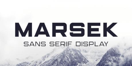 marsek sans serif display typeface