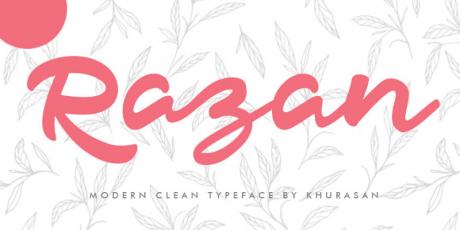 razan modern script typeface