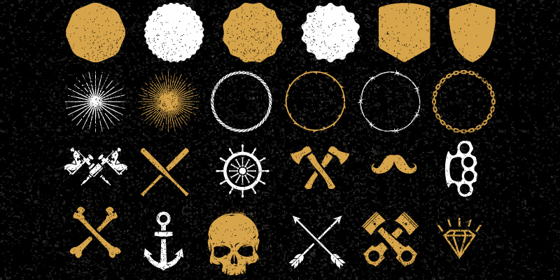 tattoo vector elements collection