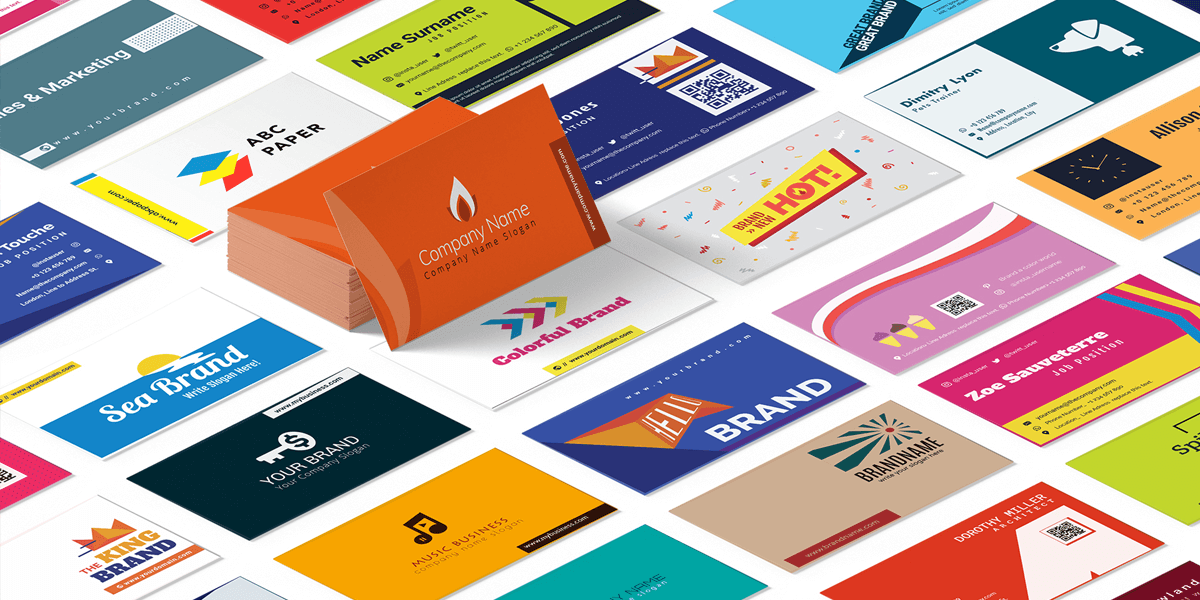 Ninja business cards design free ai