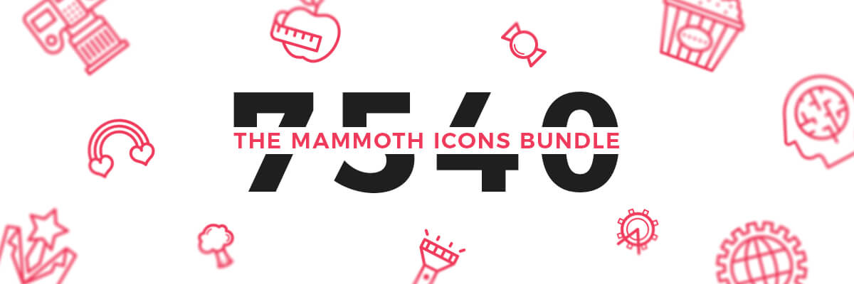 0 the mammoth icons bundle preview