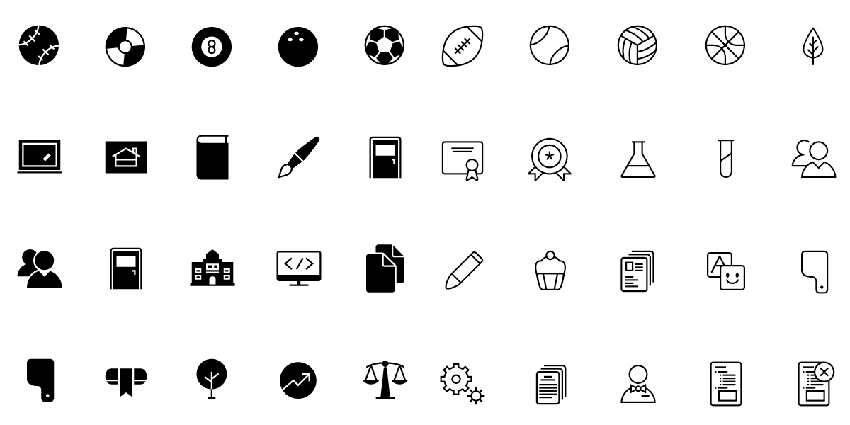5200+ iOS Style Line Icons & Solid-Fill Variations, Ai & SVG