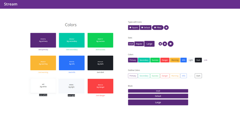 stream bootstrap ui kit featured