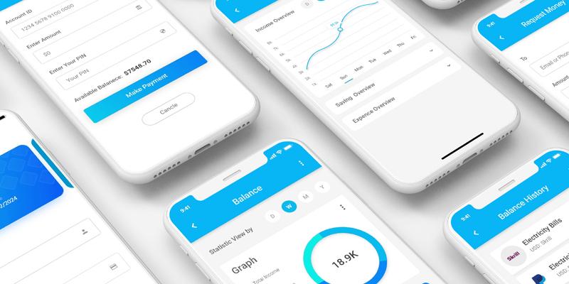 Wallet Mobile App UI Kit (Adobe XD) | Bypeople